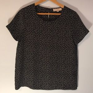 Ann Taylor Loft, Black and White Dress Shirt